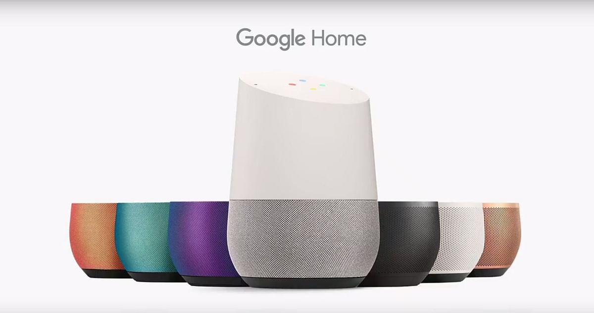 Google Home available in different colour options. (Photo: YouTube/Google)