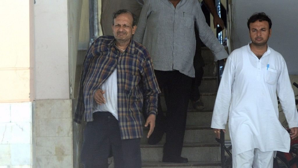BK Bansal, a senior official of the Ministry of Corporate Affairs who was arrested by the CBI on bribery charges, outside his residence in Delhi on 20 July, 2016. (Photo: IANS)