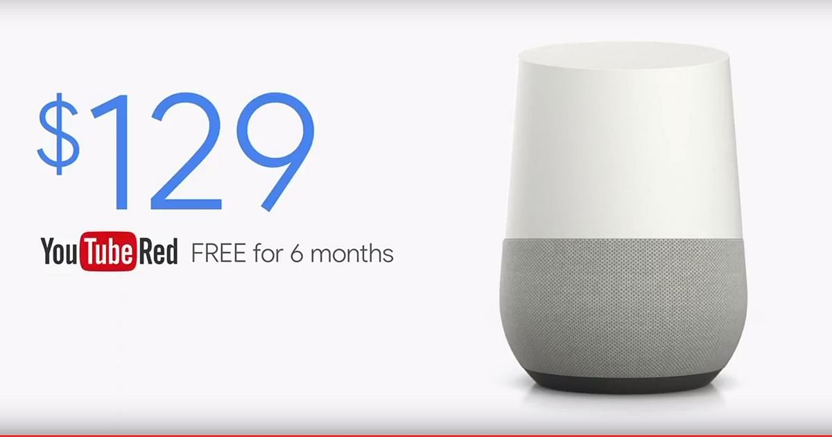 Here's how much the Google Home will cost. (Photo: YouTube/Google)