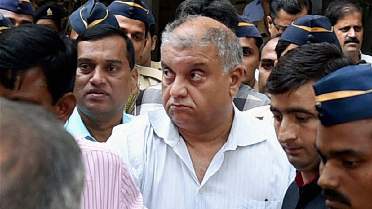 Peter Mukerjea at the Esplanade court in Mumbai.