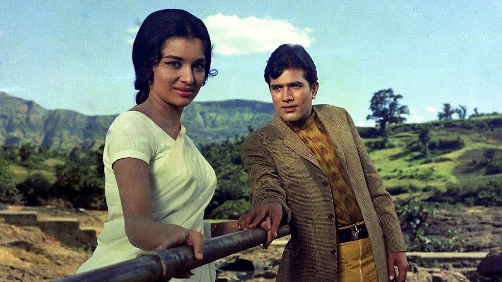Asha Parekh and Rajesh Khanna in a scene from <i>Kati Patang. </i>
