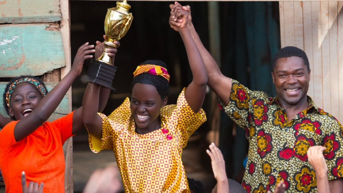 "Madina Nalwanga, Lupita Nyong'o and David Oyelowo in a scene from <i>Queen Of Katwe.</i> (Photo courtesy: Twitter/<a href=""https://twitter.com/DisneyStudios"">@<b>DisneyStudios</b></a>)"