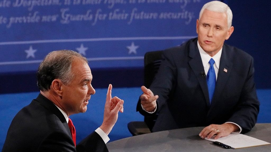 Senator Tim Kaine and Governor Mike Pence go head-to-head. (Photo: AP)