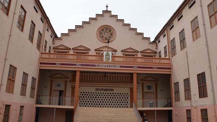 "Anna did his BSc (Tech) at St. Joseph's College, Tiruchirappalli, Tamil Nadu. Lawley Hall was their mess hall. (Photo Courtesy: <a href=""http://www.sjctni.edu/"">St Joseph's College</a>)"