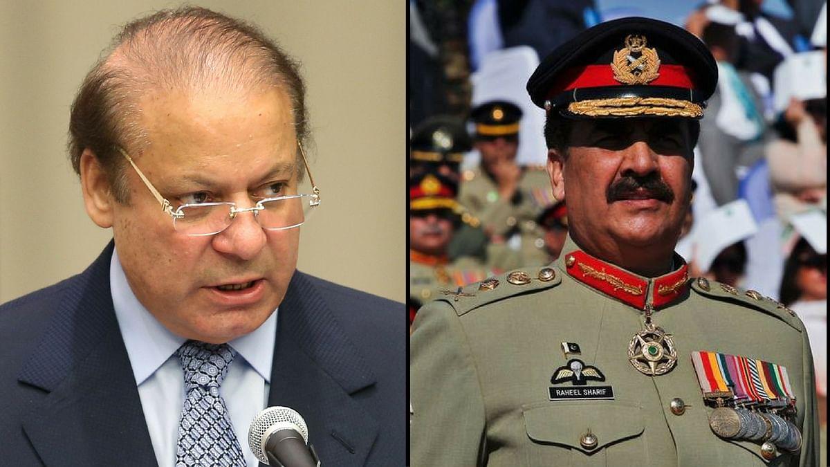 Pakistan PM Nawaz Sharif; Pak Army General Raheel Sharif (Photo: Reuters)