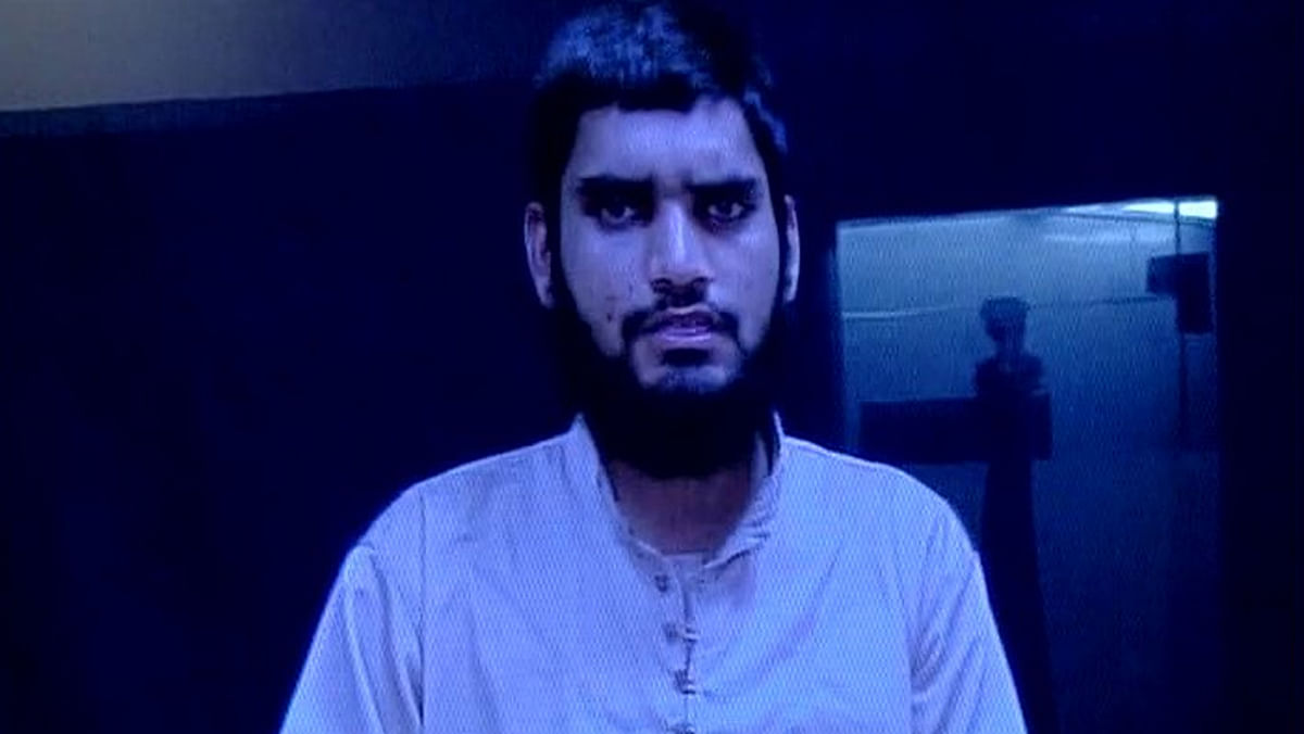 Bahadur Ali in the confession video released by the NIA. (Photo: ANI Screenshot)