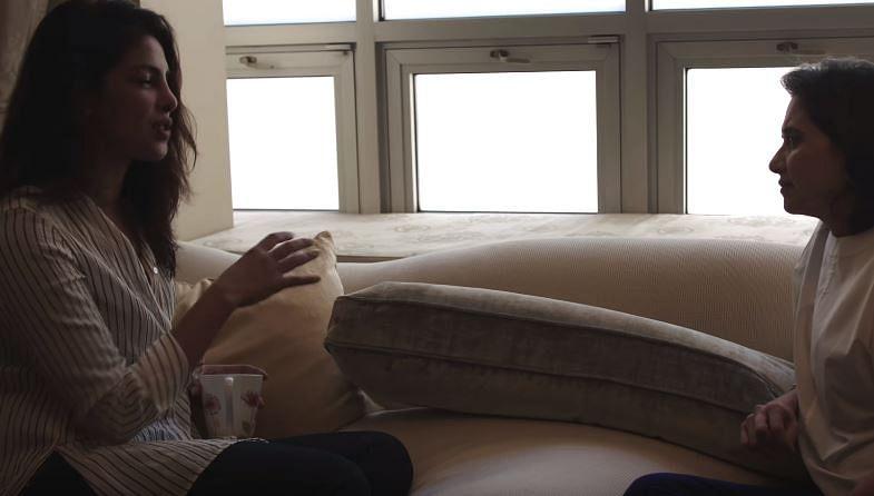 "Priyanka with Anupama in her New York pad. (Photo Courtesy: <a href=""https://www.youtube.com/watch?v=q9EKYKQWo5A"">Youtube/FilmCompanion</a>)"