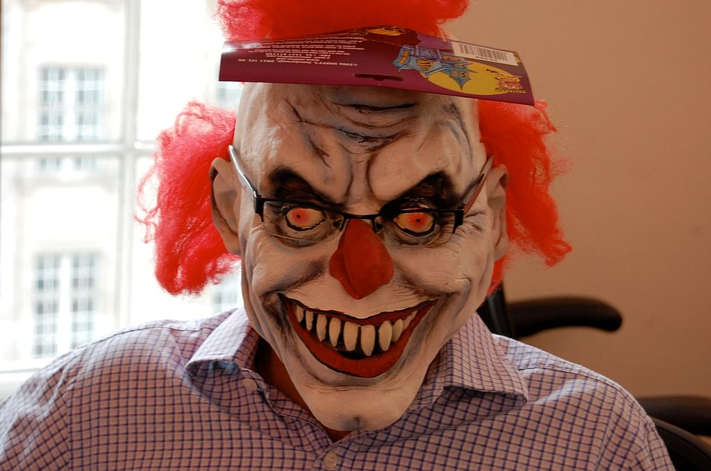 """The clowns were said to be luring kids into the woods. (Photo Courtesy: Flickr/<a href=""""https://www.flickr.com/photos/nez/1417991995"""">Andrew</a>)"""