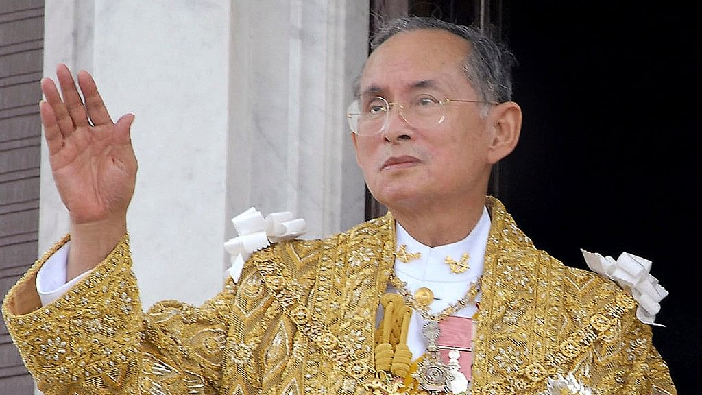 King Bhumibol Adulyadej, revered in Thailand as a demigod died on 13 October. (Photo: AP)