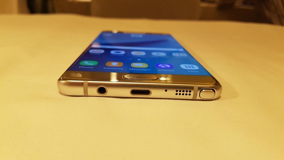 Samsung has opted for USB Type-C with the Galaxy Note 7. (Photo: <b>The Quint</b>)