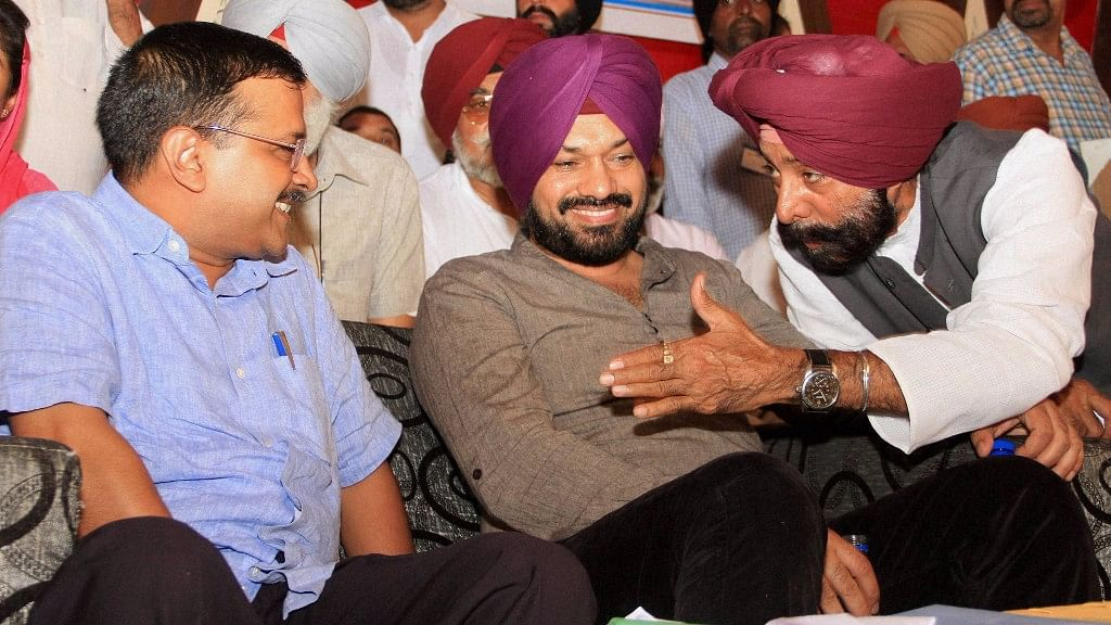 Delhi chief minister and AAP national convener Arvind Kejriwal  during a meeting with traders, transporters and industrialists in Bathinda, 24 October 2016. (Photo: PTI)