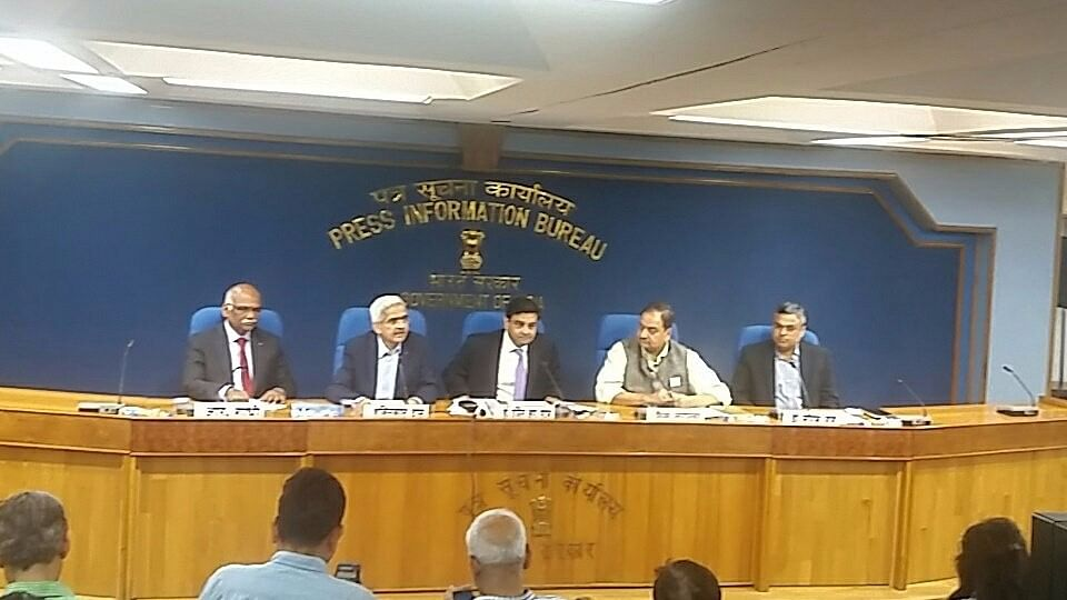 RBI Governor Urjit Patel addresses a press conference to announce demonetisation of Rs 1000 and Rs 500 notes   in New Delhi on   8 November, 2016. (Photo: IANS)