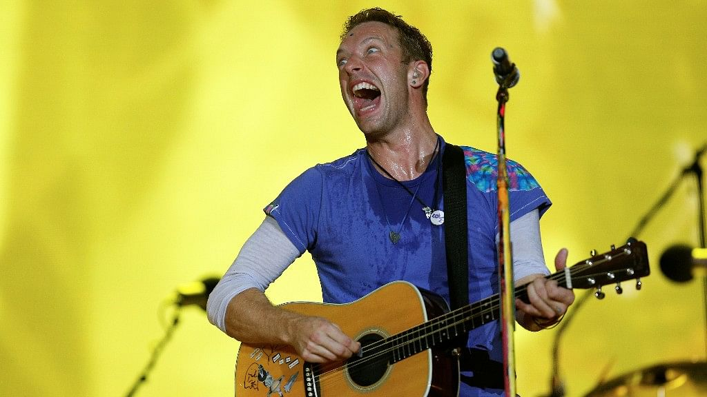 Coldplay band member Chris Martin at the World Global Citizen event in Mumbai on Sunday, 20 November 2016. (Photo: Reuters)