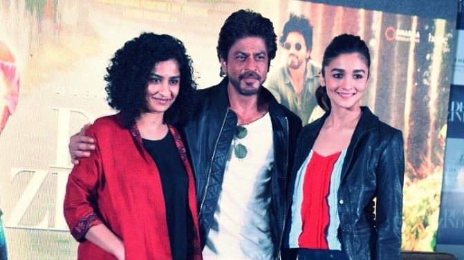 Gauri Shinde, Shah Rukh Khan and Alia Bhatt at a promotional event for <i>Dear Zindagi</i>. (Photo: Yogen Shah)