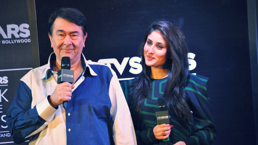 Randhir Kapoor with his  daughter Kareena Kapoor.