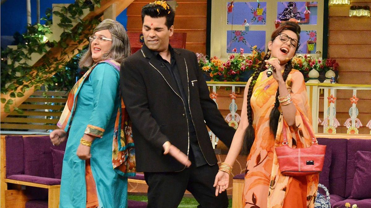 Karan Johar is in his element as he dances with Dadi. (Photo: Yogen Shah)
