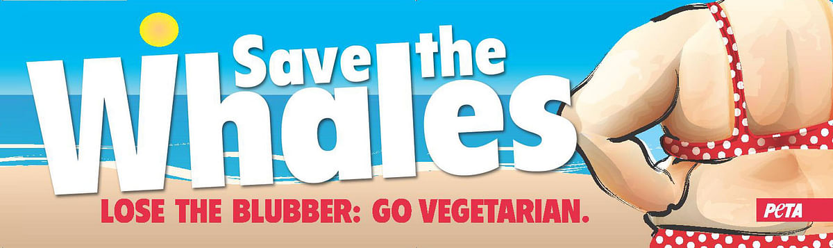 "PETA's Save the Whale campaign created news for fat-shaming. (Photo courtesy: <a href=""http://www.nutritionunplugged.com/2009/08/lose-the-blubber-ad-is-low-blow-from-peta/"">Nutrition Unplugged)</a>"