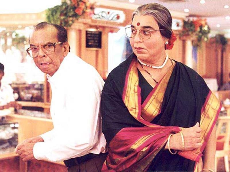 Johnny Walker with Kamal Haasan in a still from <i>Chachi 420</i>.&nbsp;
