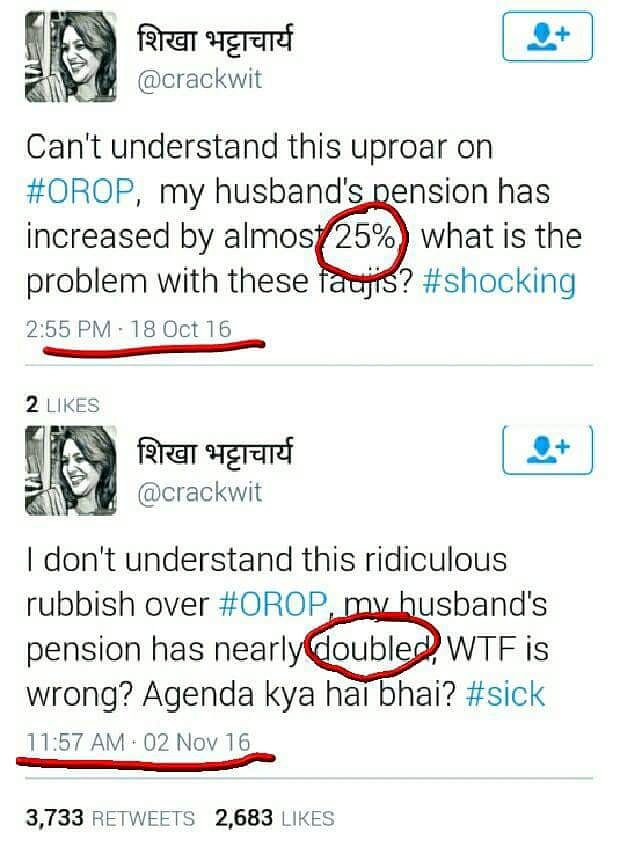 What the Tweet! Different Accounts Post the Same Tweets Over OROP