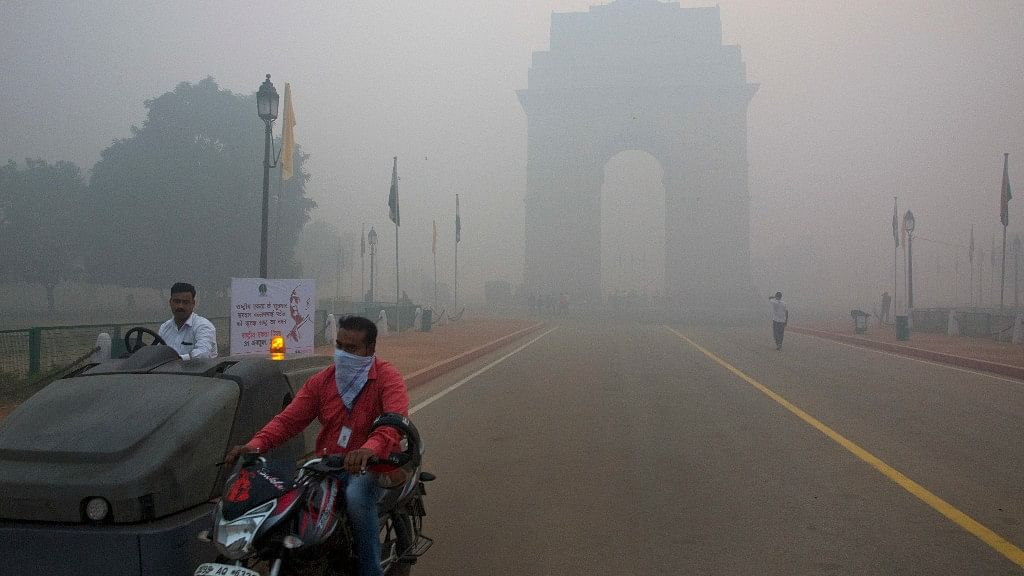 A blanket of thick haze enveloped Delhi  as pollution levels breached the permissible standards by multiple times.