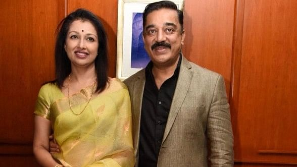 File photo of actor-turned politician Kamal Haasan with Gautami Tadimalla.