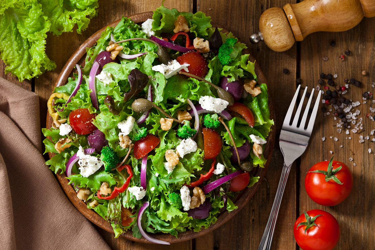 Salads, sandwiches, pasta, fruits and meat ensure that the players get the necessary carbohydrates, vitamins and proteins for optimal performance. Image for representative purpose. (Photo: iStock)