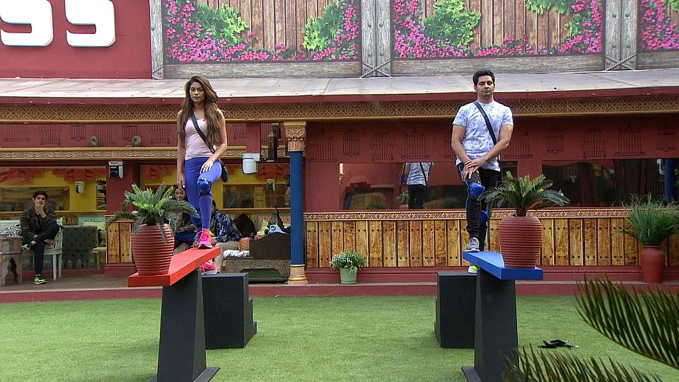 Lopamudra and Karan are focussing hard on captaincy, but who will win? (Photo courtesy: Colors TV)