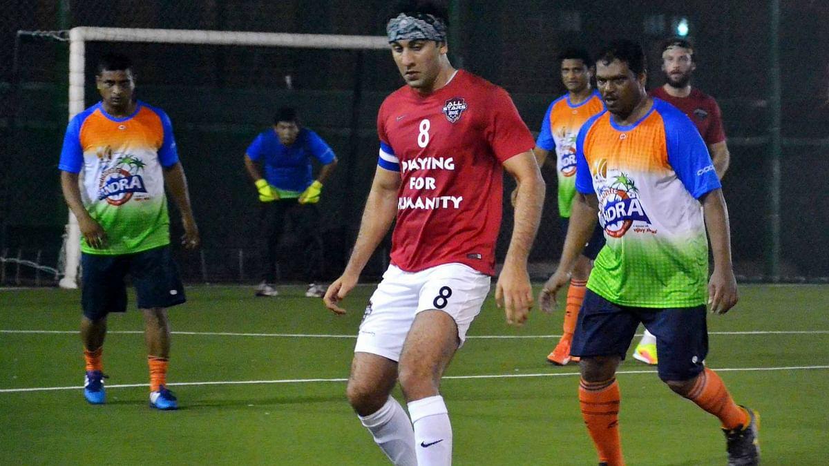 In Pics: Ranbir, Abhishek, Leander Play Footie For A Cause