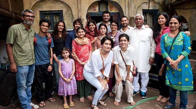 The Phogat family on the sets of <i>Dangal.</i> (Photo courtesy: <i>Dangal</i>'s PR Team)