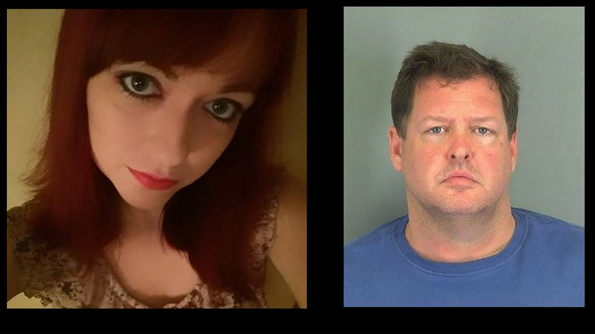 """Left: Kala Brown, who was found in the metal container. Right: Todd Kohlhepp who has been arrested in connection with the case. (Photo: Facebook/<a href=""""https://www.facebook.com/kala.brown.52?fref=ts"""">Kala Brown</a> and Twitter/<a href=""""https://twitter.com/DarrenBotelho"""">@DarrenBotelho</a>)"""