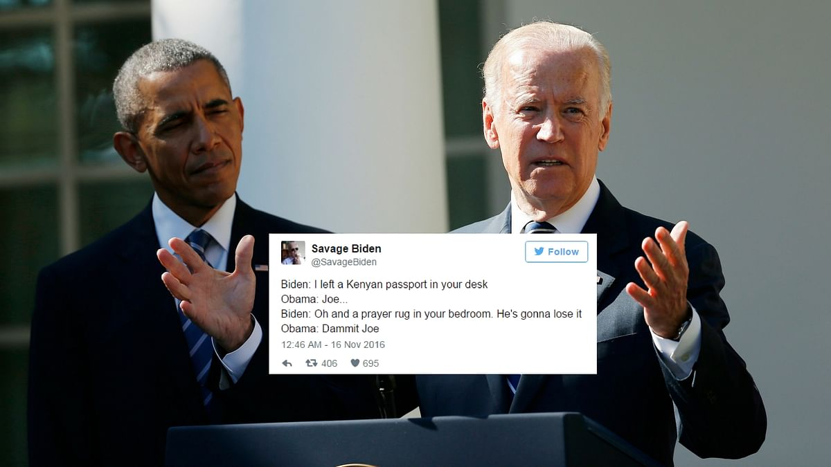 Obama and Biden. (Photo: <b>The Quint</b>/Akriti Paracer)