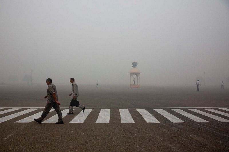 """Pollution was already at a dangerously high level in the Capital before Diwali. Last October, the AQI did not fall to """"very poor"""" levels even for a single day, while this year it was """"very poor"""" or """"severe"""" on 8 days. (Photo: AP)"""