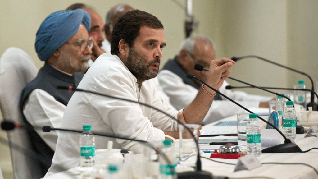 Rahul Gandhi Chairs His First CWC Meeting as Congress President