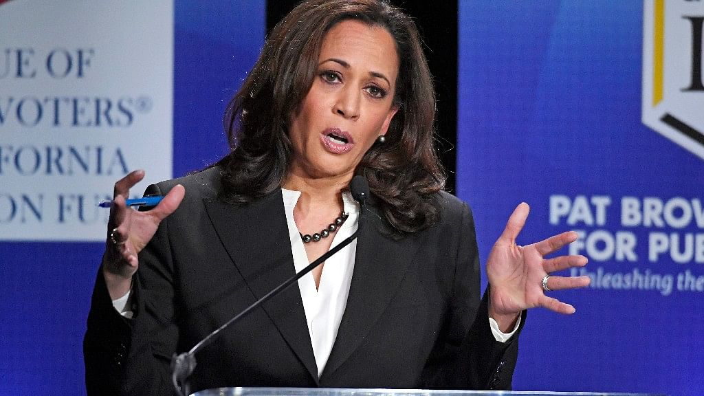 File photo of Kamala Harris.