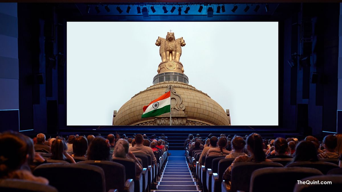 Stand up for patriotism, before the movies. (Photo: <b>The Quint</b>)