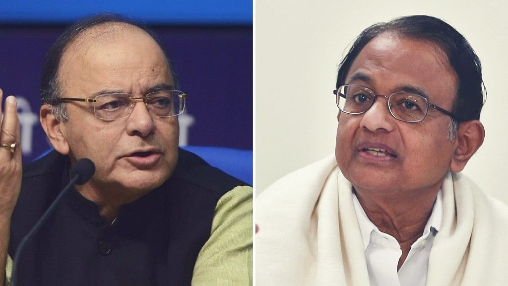 """Union Finance Minister Arun Jaitley on Tuesday slammed the Congress for calling demonetisation the """"biggest scam"""". (Photo: altered by <b>The Quint</b>)"""