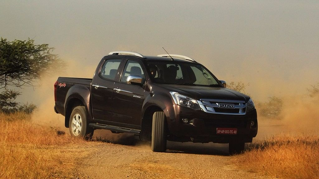 """There is almost no terrain that the Isuzu D-Max V-Cross 4×4 can't be driven on. (Photo Courtesy: <a href=""""https://www.motorscribes.com/reviews/the-isuzu-d-max-v-cross-4x4-adventure-unlimited-review"""">Motorscribes</a>)"""