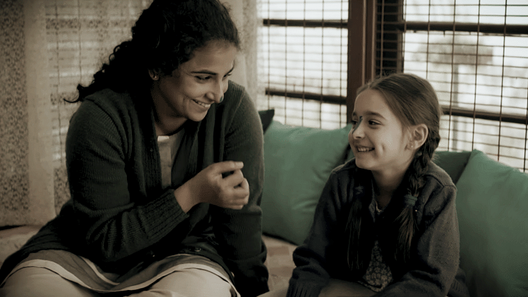 Vidya Balan and with her <i>Kahaani 2</i> co-star in a scene from the film.&nbsp;