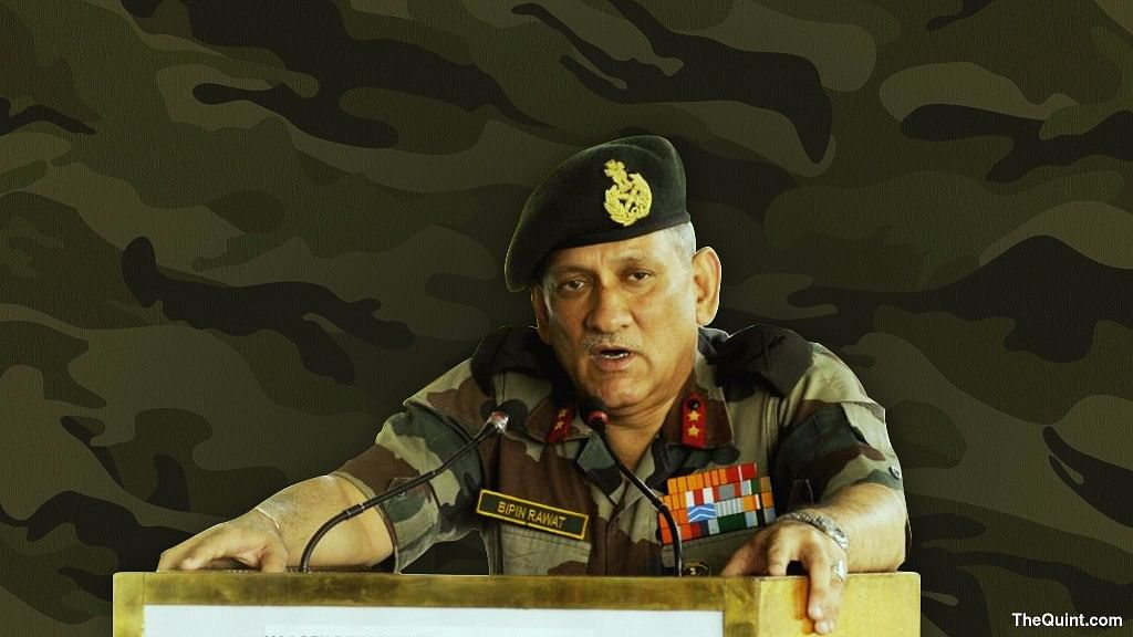 Army Chief Gen Bipin Rawat (Photo: <b>The Quint</b>)