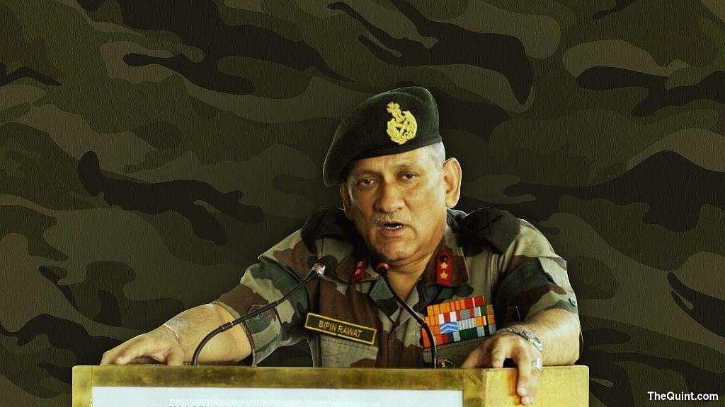 General Bipin Rawat, Army Chief of Staff. (Photo: <b>The Quint</b>)
