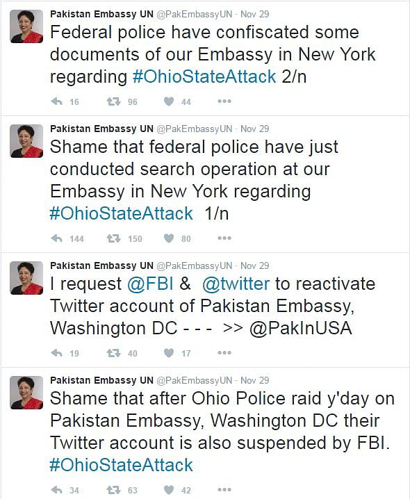 Tweets posted by the fake account. (Photo Courtesy: Twitter)