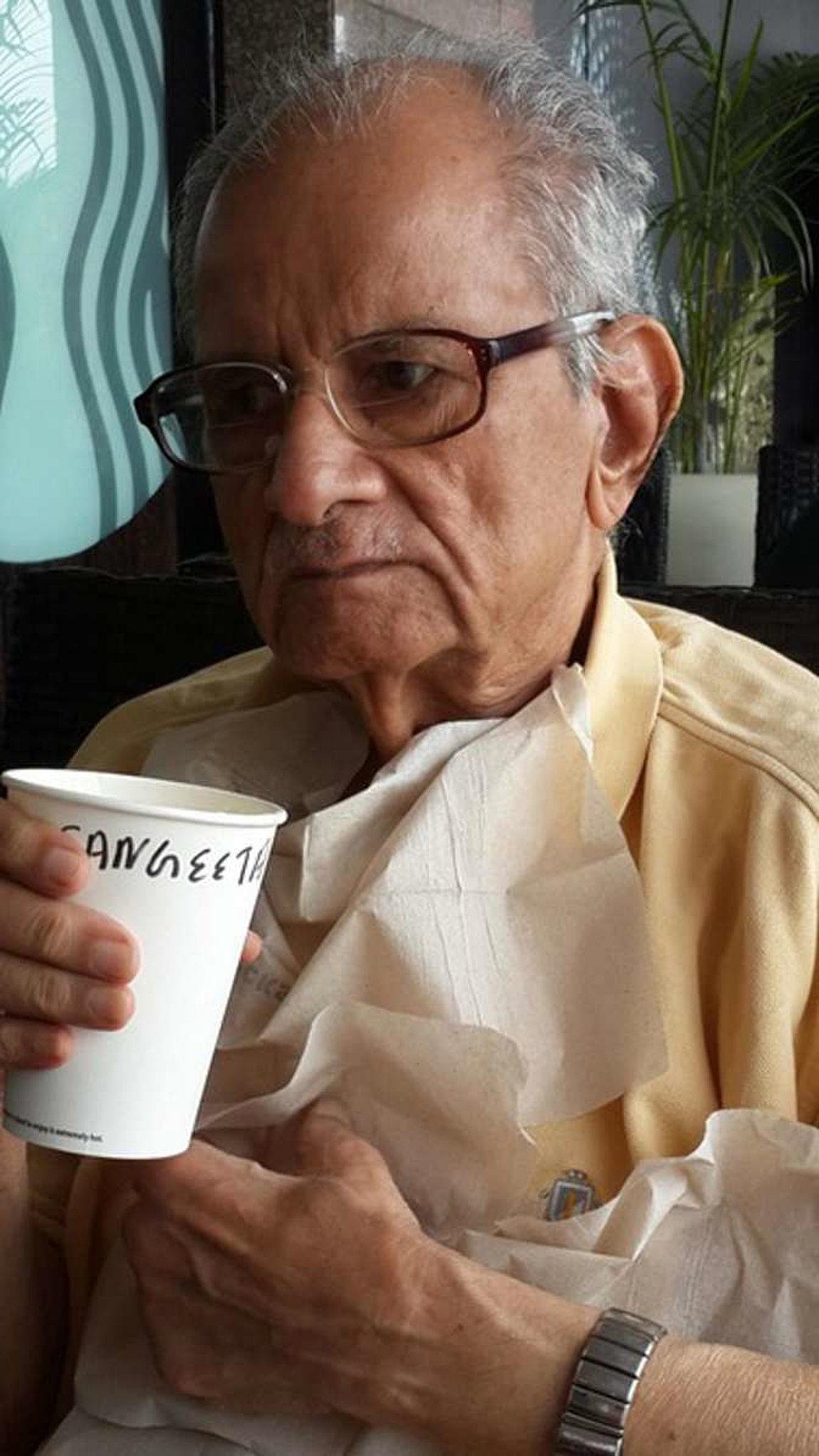 What mattered to Anna was that he could smell coffee. (Photo Courtesy: Sangeeta Murthi Sahgal)