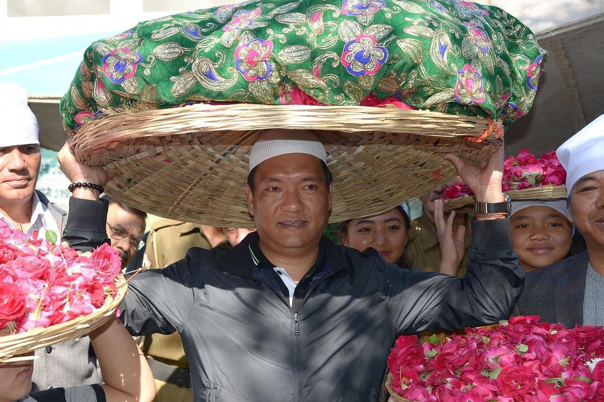 Pema Khandu takes oath as Arunachal CM. (File Photo: IANS)