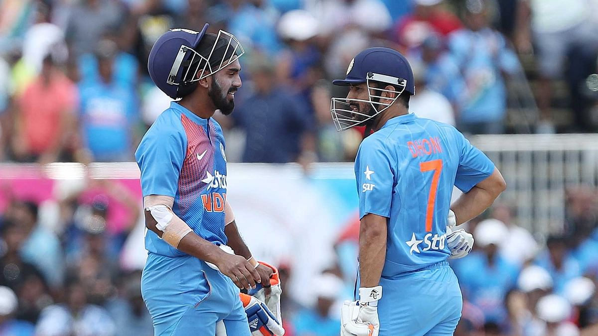 KL Rahul and MS Dhoni were the last two Indian batsmen at the crease. (Photo: BCCI)