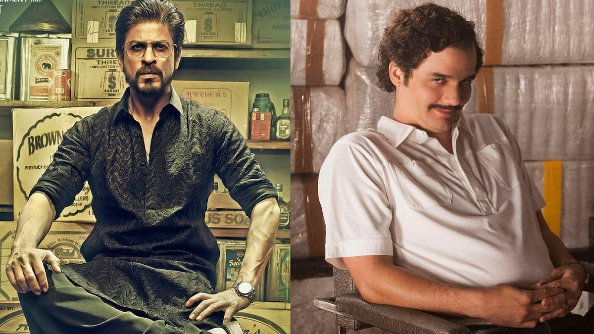 Shah Rukh Khan as Raees Alam and Wagner Moura as Pablo Escobar.