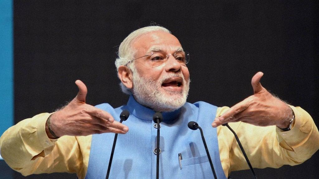 Prime Minister Narendra Modi speaking on 30 December 2016. (Photo: PTI)