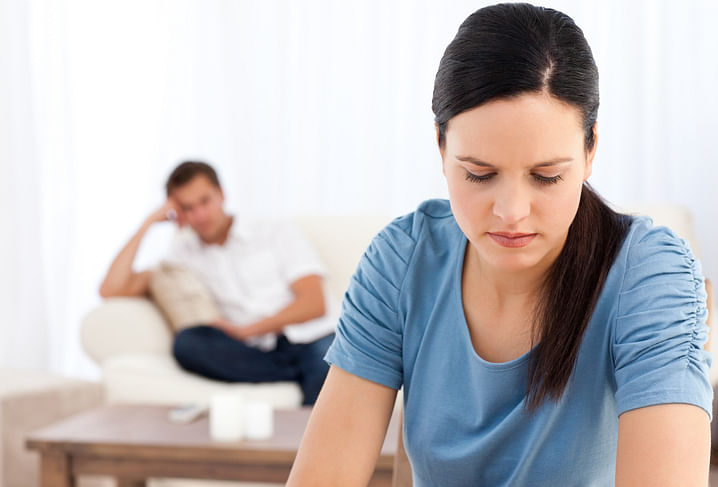 """""""Every discussion with my husband ends in a bad fight."""" (Photo: iStock)"""