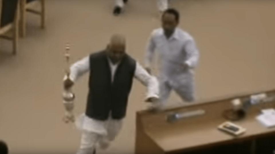 Watch: Tripura MLA Grabs Speaker's Mace, Runs Away... Wait, What?