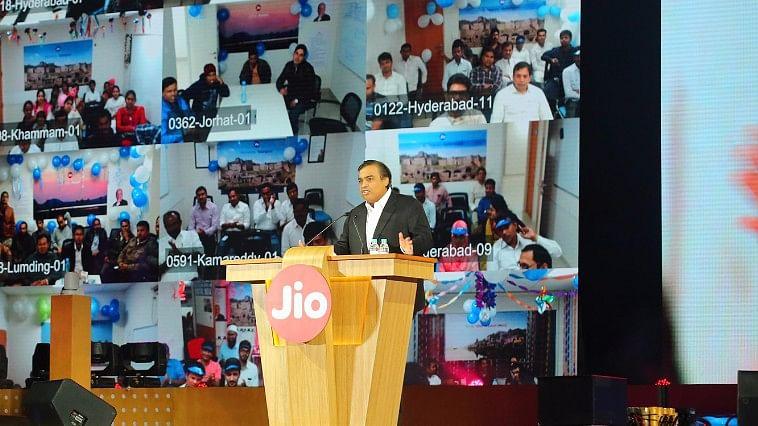 Mukesh Ambani, Chairman & MD, RIL at the Reliance Jio launch. (Photo Courtesy: Reliance)