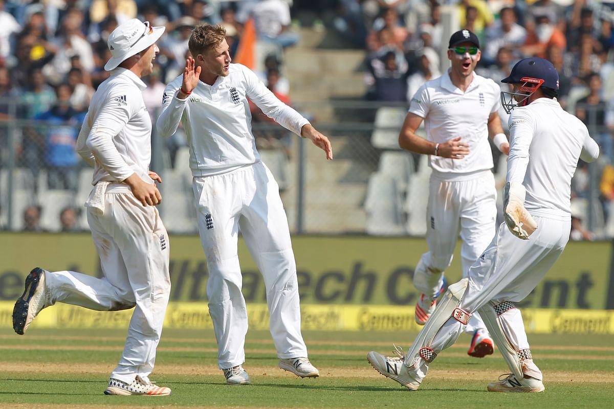 Joe Root celebrates the wicket of Ravichandran Ashwin on day three. (Photo: BCCI)